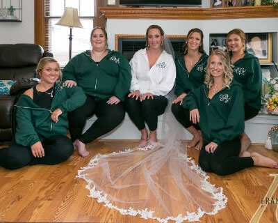 Green Bridesmaid Hoodies