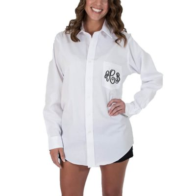 Monogrammed Button-Down Men's Shirt