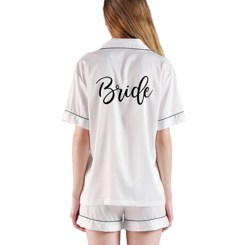 Button-up Bride Pajama Set