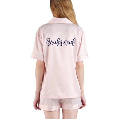 Button-up Bridesmaid Pajama Set
