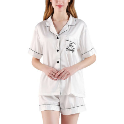 """The Bride"" Button-up Pajama Set"