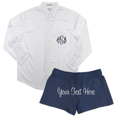 Create Your Own Monogrammed Button-Down Men's Shirt & Shorts Set