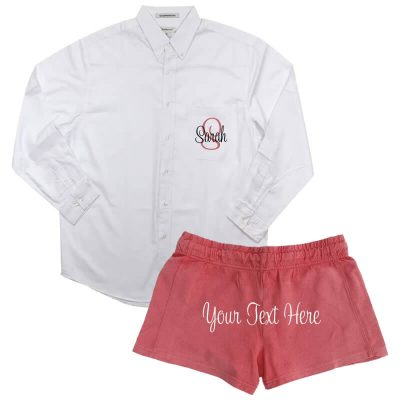Create Your Own Button-Down Oversized Men's Shirt & Shorts Set