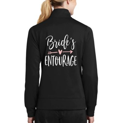 """Bridal Entourage"" Full-Zip Rhinestone Jacket"