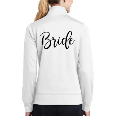 Full-Zip Rhinestone Bride Jacket