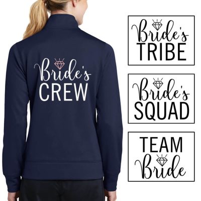 """Bride's Crew"" Full-Zip Rhinestone Jacket"