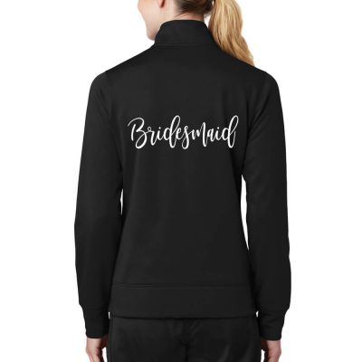 Rhinestone Full-Zip Bridesmaid Jacket - Script