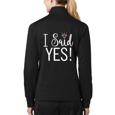 "Personalized ""I Do!"" Full-Zip Rhinestone Bride Jacket"