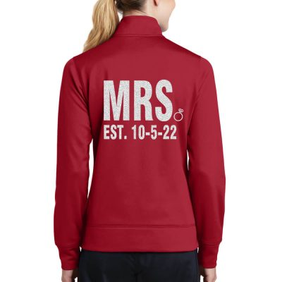 "Rhinestone ""Mrs."" Full-Zip Bride Jacket - Block"
