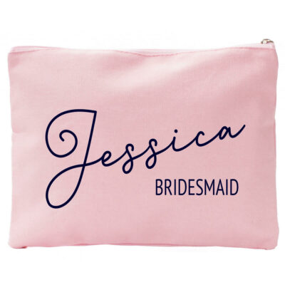 Canvas Cosmetic Pouch with Name & Title
