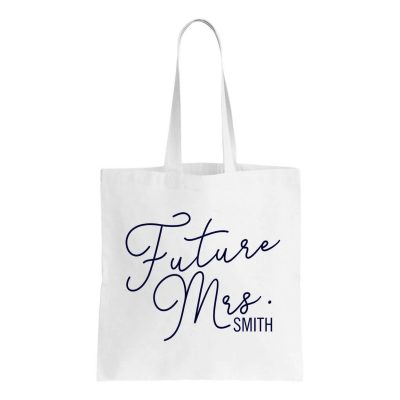 """The Future Mrs."" Canvas Tote Bag"