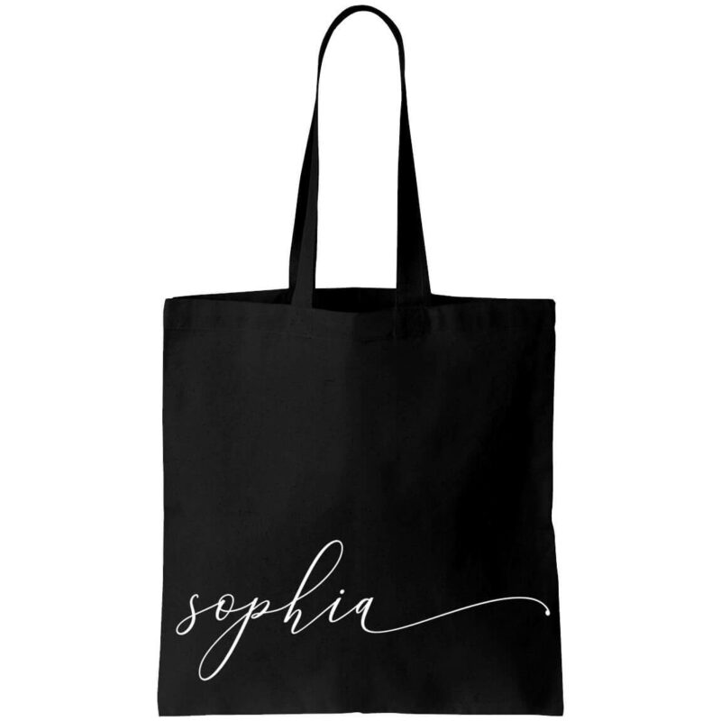 Canvas Tote Bag with Lowercase Name