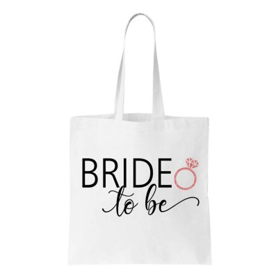 """Bride to be"" Canvas Tote Bag"