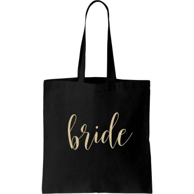 Bride Canvas Tote Bag - Lowercase Script