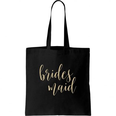 Bridal Party Canvas Tote Bag - Lowercase Script