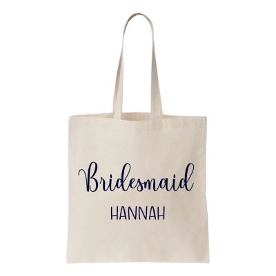 Bridal Party Canvas Tote Bag