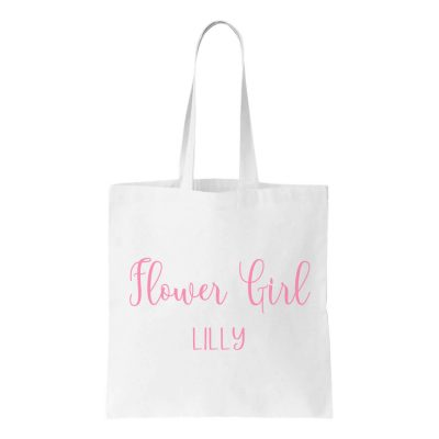 Flower Girl Canvas Tote Bag