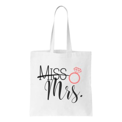 """Miss"" to ""Mrs."" Canvas Tote Bag"