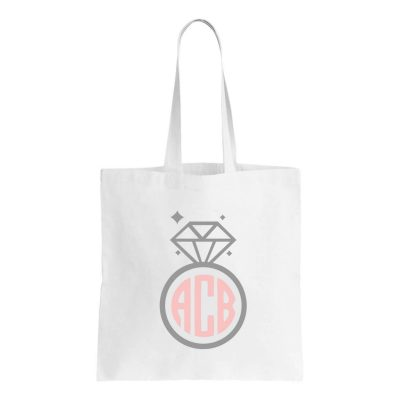 Monogrammed Ring Canvas Tote Bag