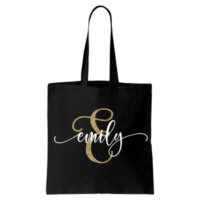 Canvas Tote Bag with Name & Initial