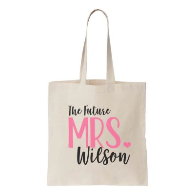 """Future Mrs."" Canvas Tote Bag"