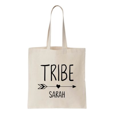 """TRIBE"" Canvas Tote Bag with Name"