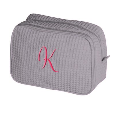 Personalized Cosmetic Bag with Initial