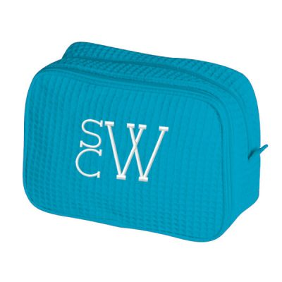 Personalized Cosmetic Bag with Modern Monogram