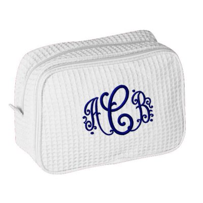 Personalized Cosmetic Bag with Monogram