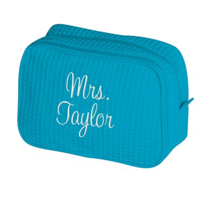 "Personalized ""Mrs."" Bride Cosmetic Bag"