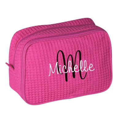 Personalized Cosmetic Bag with Name & Initial