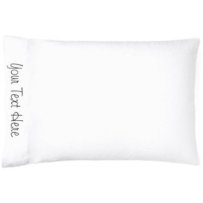 Create Your Own Embroidered Pillow Case (Side)