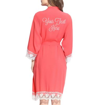 Create Your Own Embroidered Lace Trim Robe
