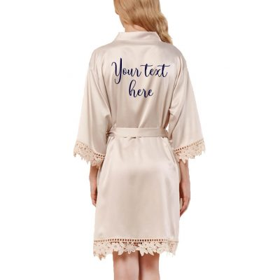 Design Your Own Lace Satin Robe
