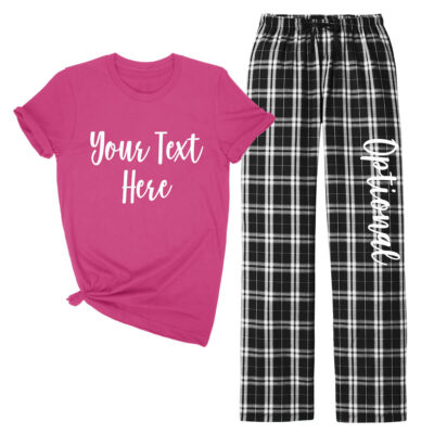 Create Your Own T-Shirt & Flannel Pant Pajama Set