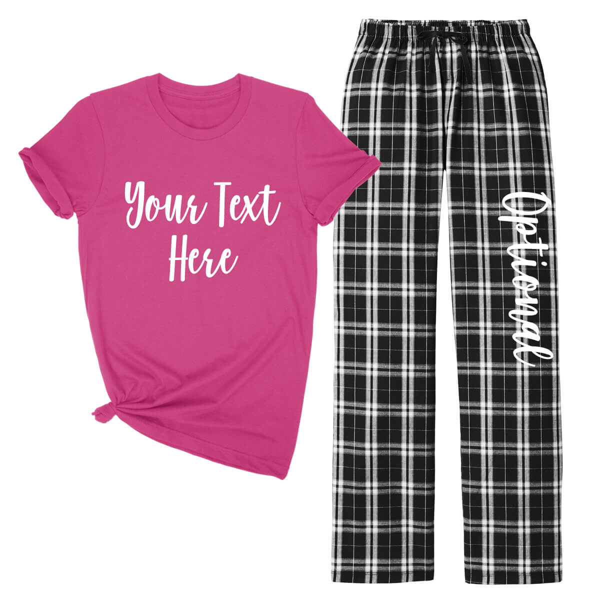 create your own tank top  u0026 flannel pant pajama set