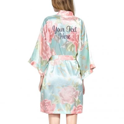 Create Your Own Pastel Floral Satin Robe
