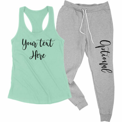 Create Your Own Tank Top & Jogger Pants Set