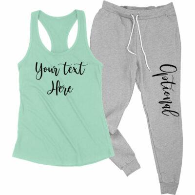 Create Your Own Tank Top & Jogger Pants Set