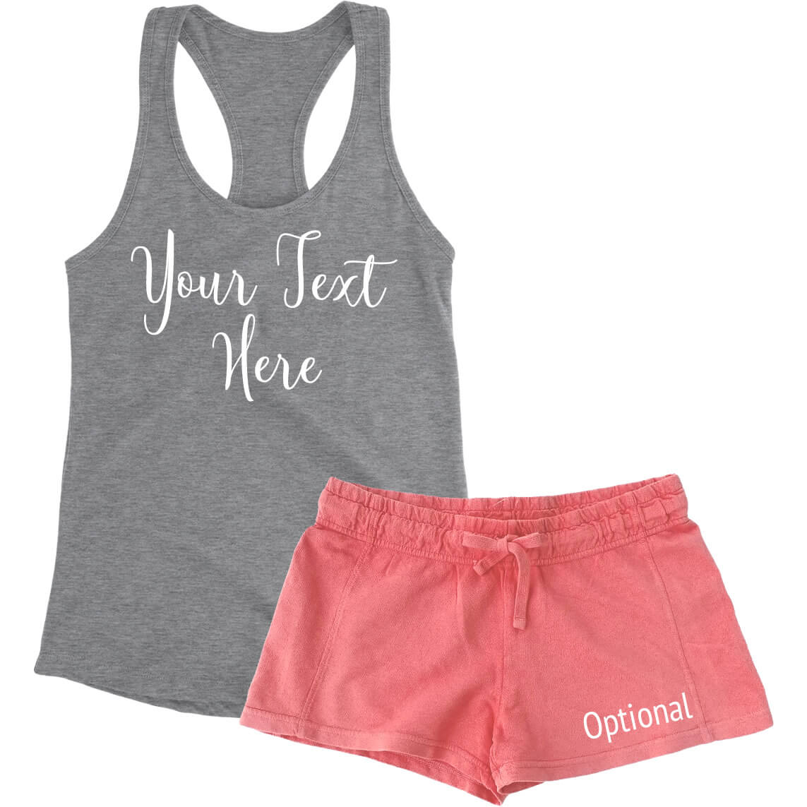 23afa64ab8 Create Your Own Tank Top & Shorts Pajama Set | Personalized Brides