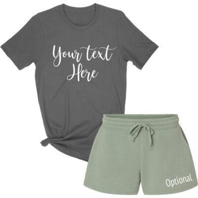 Create Your Own T-Shirt & Shorts Pajama Set