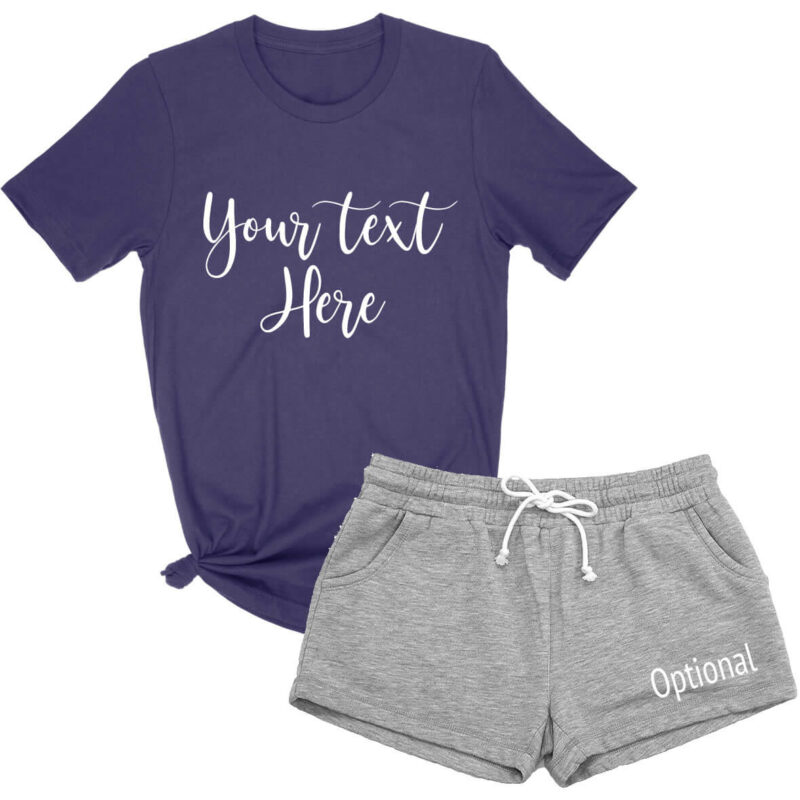 Create Your Own T-Shirt & Shorts Pajama Set