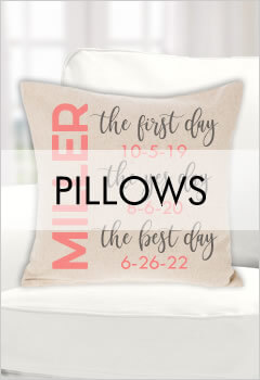 Personalized Pillows & Pillowcases