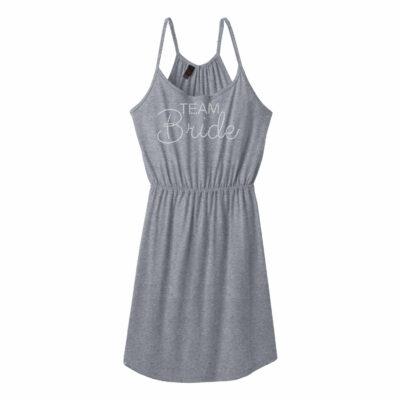 """Team Bride"" Rhinestone Strappy Dress"