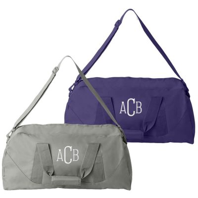 Personalized Bride and Groom Duffle Bag Set - Monogrammed