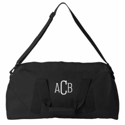 Personalized Duffle Bag with Initials