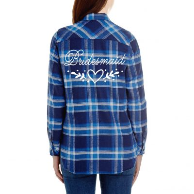 Bridesmaid Flannel Shirt with Heart Laurel
