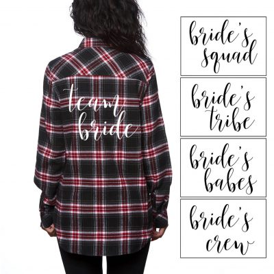 Flannel Bridal Party Shirt - Lowercase