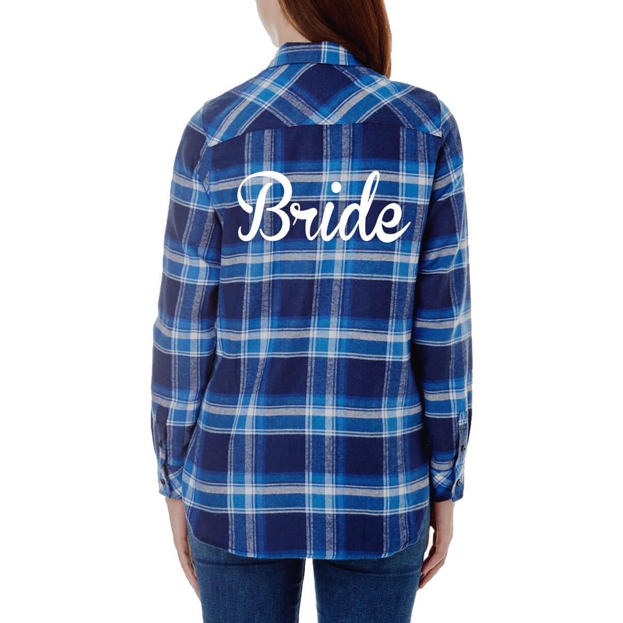 design your own bride flannel shirt