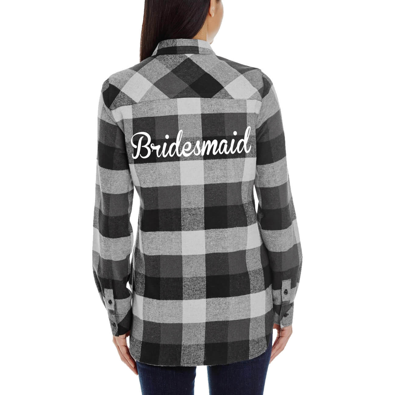 design your own bridesmaid flannel shirt personalized brides